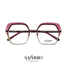 "Safarro Eyewear - ""Pienza"" - Gold/Burgundy Gradient"