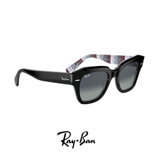 Ray Ban - 'State Street' - Black/Striped Grey&Red