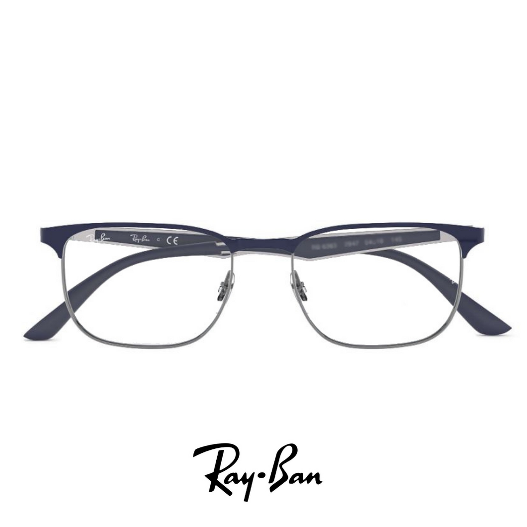 Ray Ban Eyewear - Square - Blue/Gunmetal, Metal