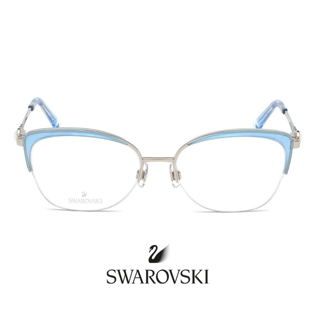 Swarovski Eyewear - Cat-Eye - Silver/Blue
