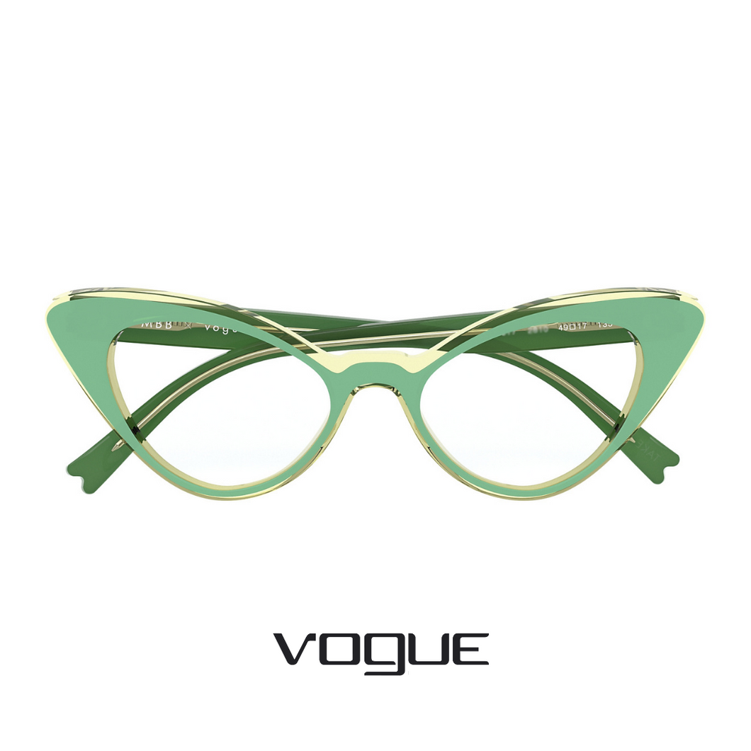 Vogue Eyewear - Cat-Eye - Green/Transparent