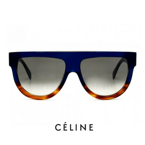 Celine Shadow Top Flat Havana Blue