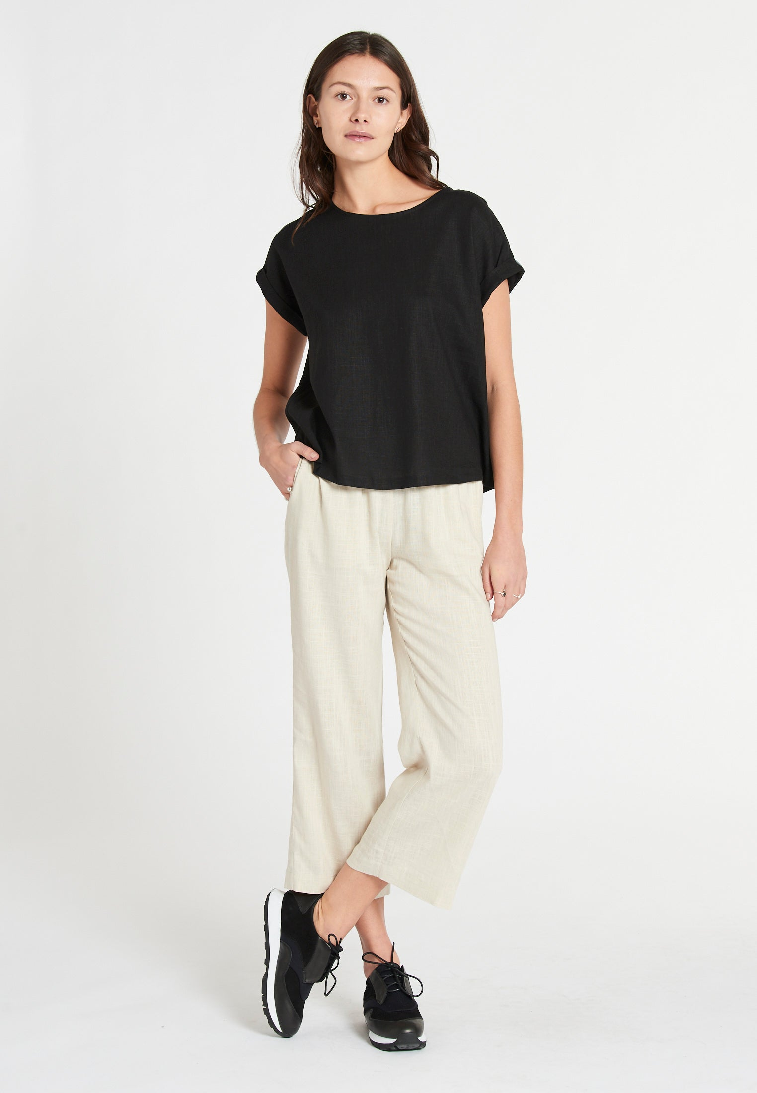 Boston Linen Soft Black