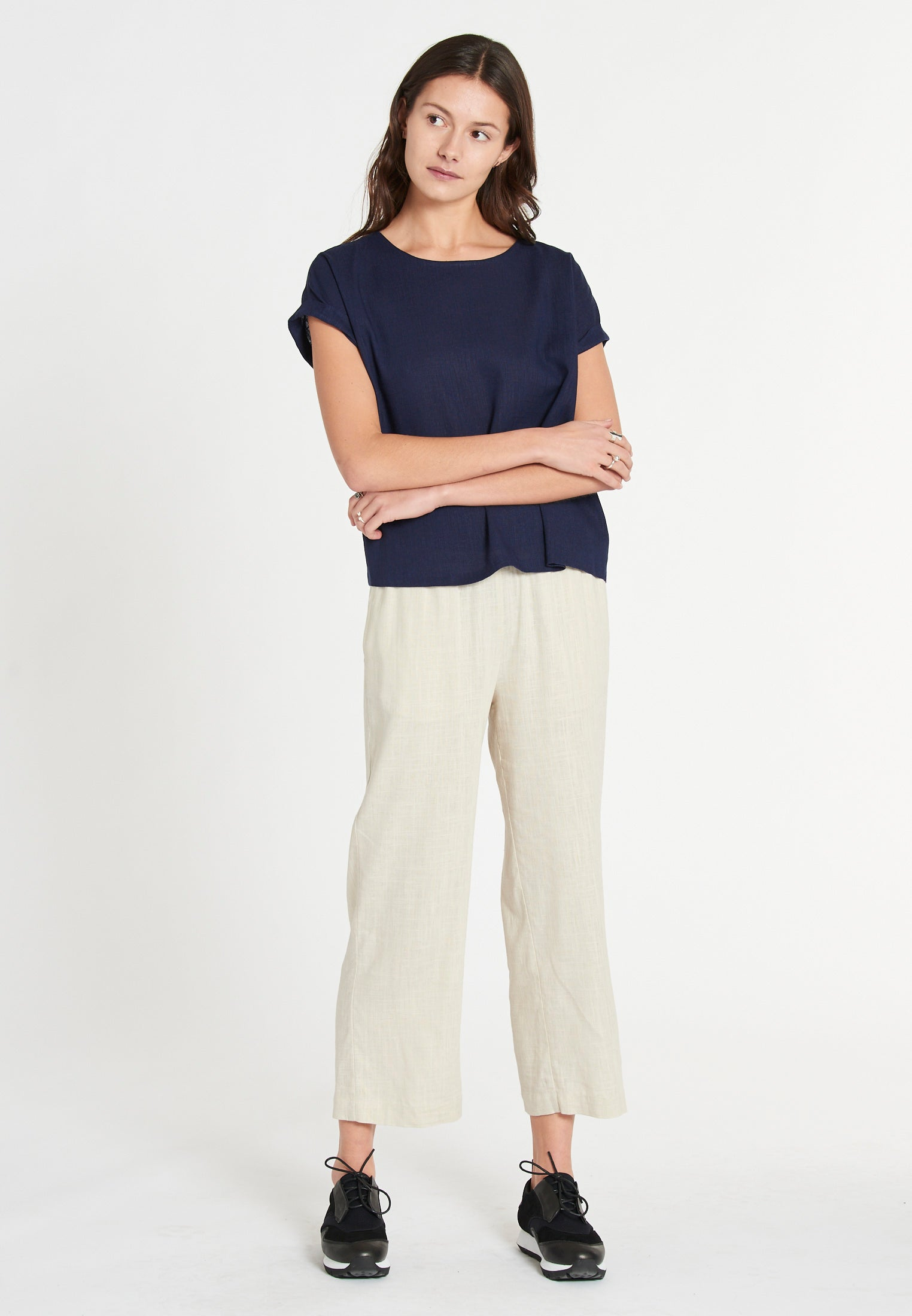 Boston Linen Soft Navy