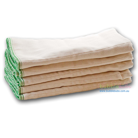 BUBBLEBUB - Unbleached Cotton Prefolds Toddler