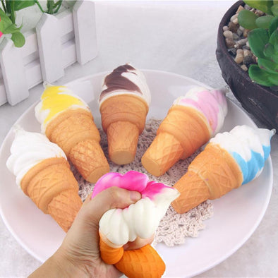 10cm Ice Cream toy Simulation Cake Slow Rising Cellphone Straps Bread Toys Phone Chain Strap Kitchen toys for children - Roozoda