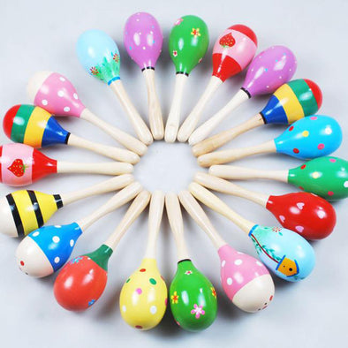 Mini Wooden Ball Children Toys Percussion Sand Hammer Noise maker toys for children Kids #YL - Roozoda