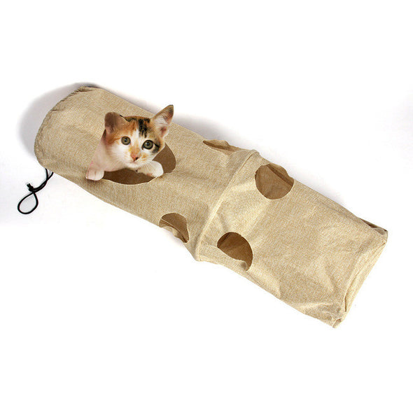Pet Cat Play Tunnel Funny Cat Long Tunnel Kitten Play  pet cat toys cat toys interactive - Roozoda