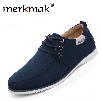 New Autumn Spring Men Shoes Casual Leisure Male Footwear Fashion Men's Flats Suede Leather Flat Shoes Men Comfortable Shoe - Roozoda