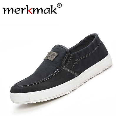 Spring Autumn Men Casual Shoes Fashion Mens Male School Style Breathable Slip-On Canvas Antiskid Flat Shoes Drop Shipping - Roozoda