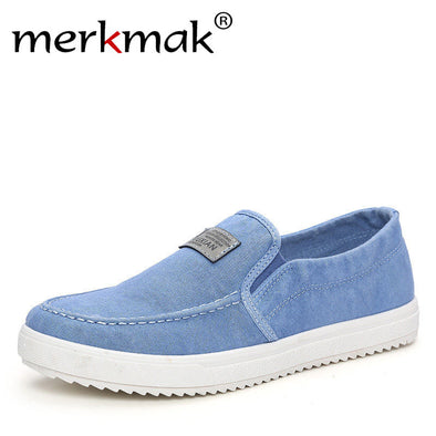 Merkmak Luxury Canvas Casual Men's Shoes British Loafers Mens Flats Masculinos Comfort Driving Men Footwear Shoes Drop Shipping - Roozoda