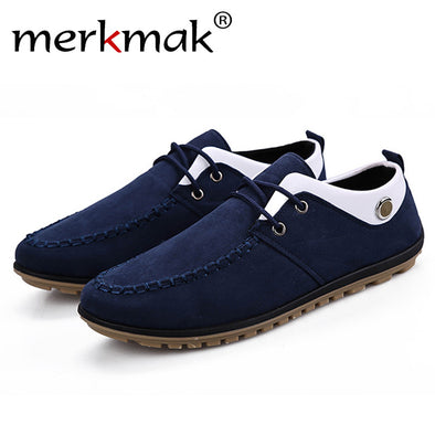 Merkmak Shoes Men Fashion Casual Brand British Style Spring Autumn Breathable Ankle Men Shoes Comfortable Sapatos Masculino - Roozoda