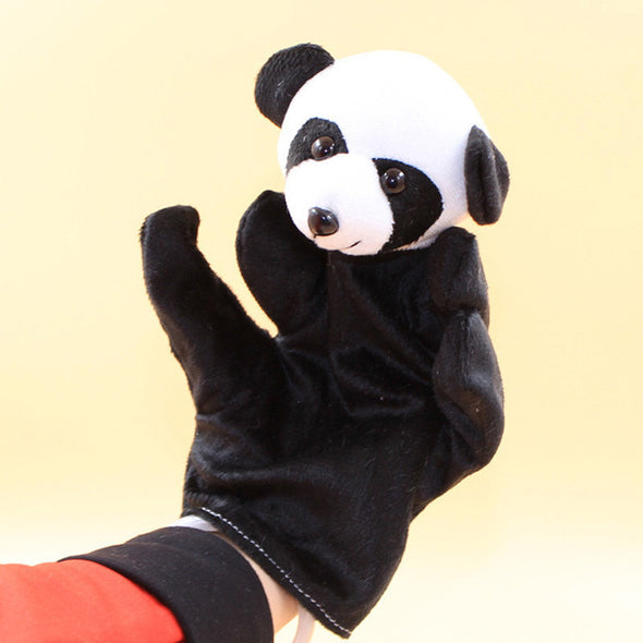 Funny toy Animal Panda Finger Puppet Plush Baby Favor Toys Dolls Kid Child Boys Girls Educational Hand Toy - Roozoda