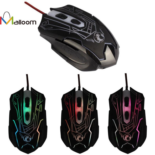 Malloom 2016 High Quality  2000DPI USB Optical Wired Mouse Gaming 6d Button For Laptop PC Game Mice #LR17 - Roozoda