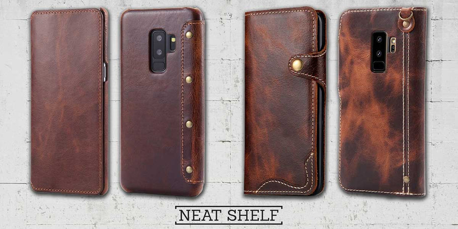 Galaxy S9 Leather Case - best protection for your new Samsung