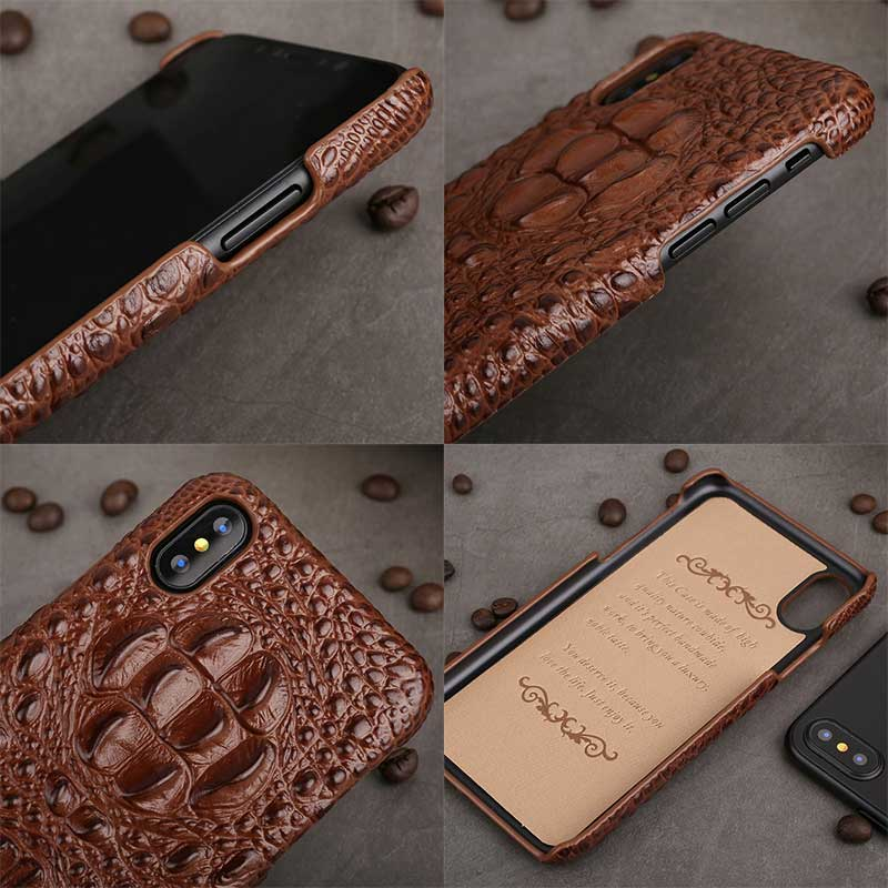 Picture of Alligator skin Crocodile cell phone case for iPhoneX