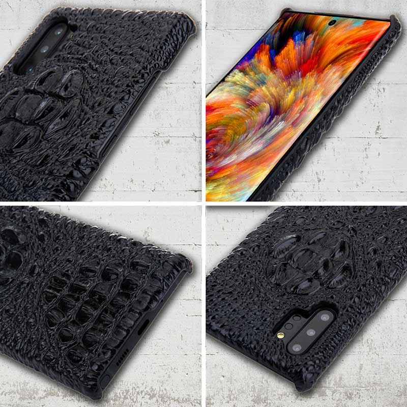 Picture of crocodile-patterned cell phone cover for Galaxy Note Ten and Note Ten-plus