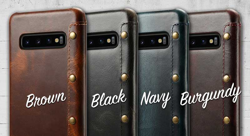 Picture of Leather cell phone folio case for Samsung Galaxy