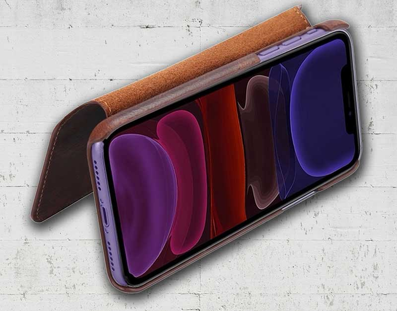 Picture of western leather flip phone case
