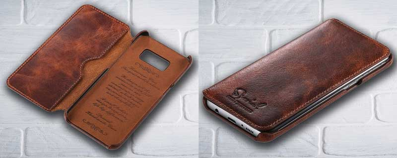 Picture of Folio Leather case for Samsung GalaxyS8
