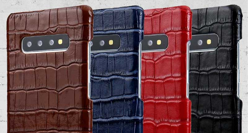 Croco Pattern Leather case for Galaxy S10 S9plus S10lite