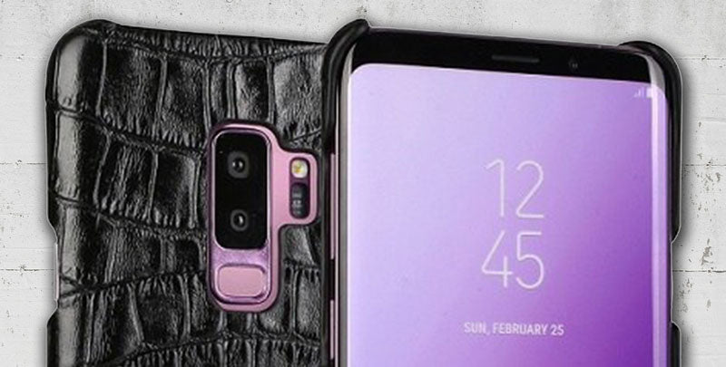 Croco Pattern Leather case for Galaxy S9 and S9plus
