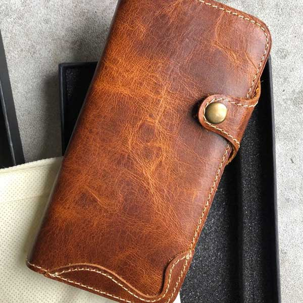 Picture of Leather cell phone wallet for Samsung Galaxy S8 plus