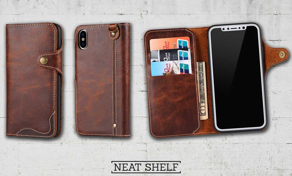 Picture of Leather wallet phone case