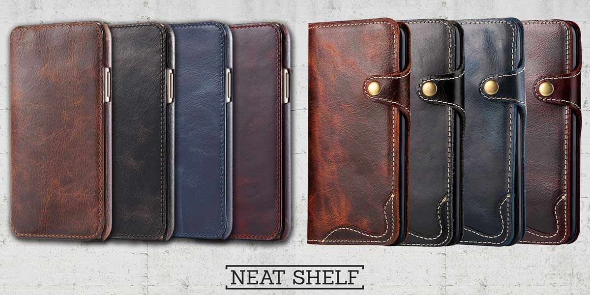 Picture of Mens leather phone wallet