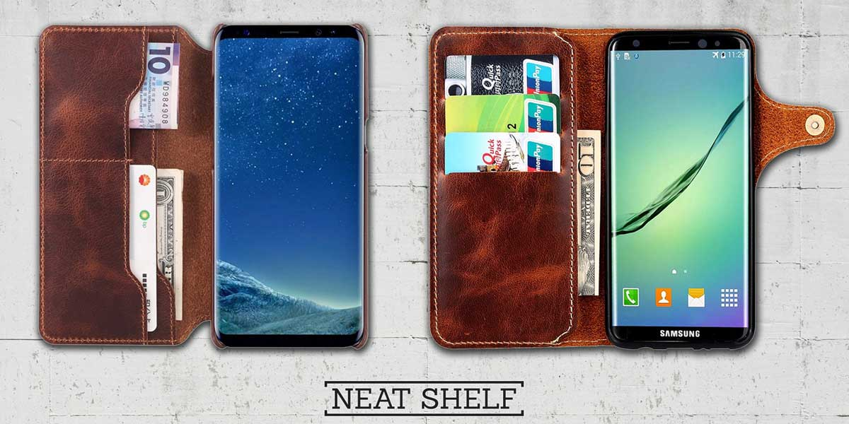 Galaxy S9 and S 9 plus leather cases
