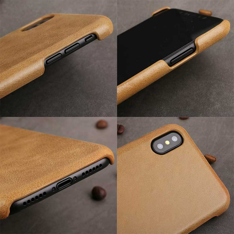 Picture of Ultra-slim Leather cover for iPhone X phone case holder