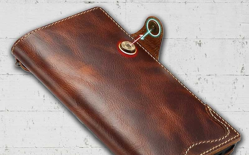 Picture of Genuine Leather cell phone wallet for Samsung Galaxy Note 10-plus