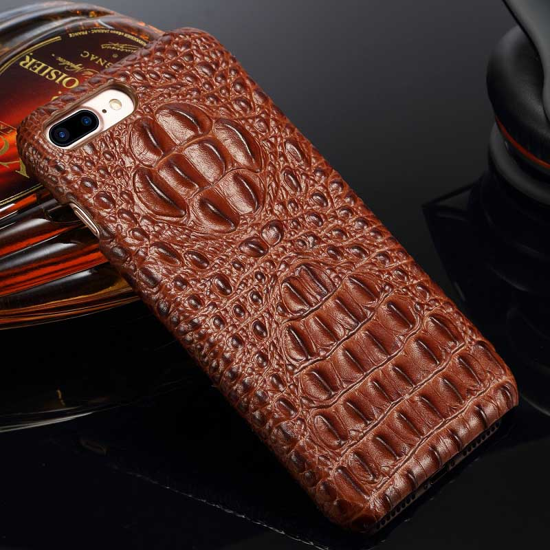 sports shoes ca05d 7243e Alligator case for iPhone 8 / 7, Cowhide Leather