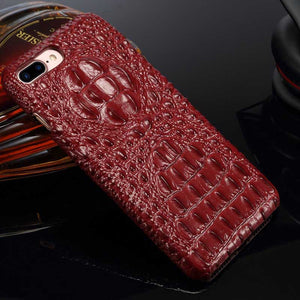 Maroon Celebrity Alligator case for iPhone 8