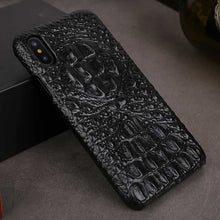 Load image into Gallery viewer, Black alligator skin phone case