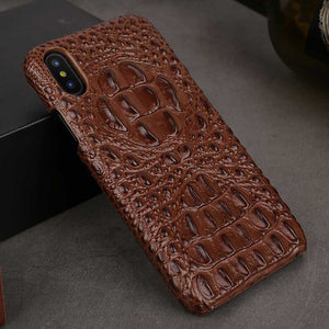 Brown iPhone X Alligator case