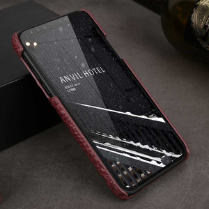 Maroon iPhoneX Alligator case