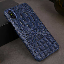 Load image into Gallery viewer, Navy iPhone X Alligator case for iPhone 10
