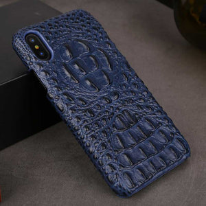 Navy iPhone X Alligator case for iPhone 10