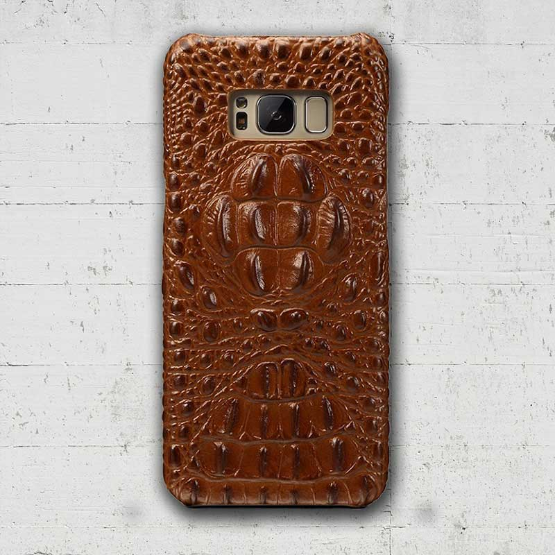 Brown Galaxy S8 Plus Alligator cover