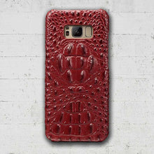 Maroon Galaxy Note 8 Alligator snap-on case