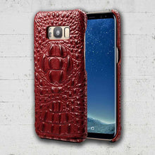 Maroon Celebrity Alligator cell phone case for Galaxy Note8