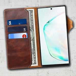 samsung leather wallet cover note 10