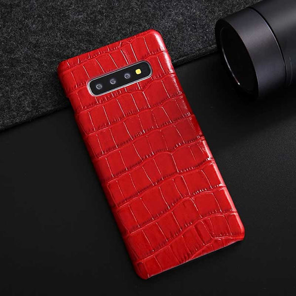 Galaxy S10 Croco case in red