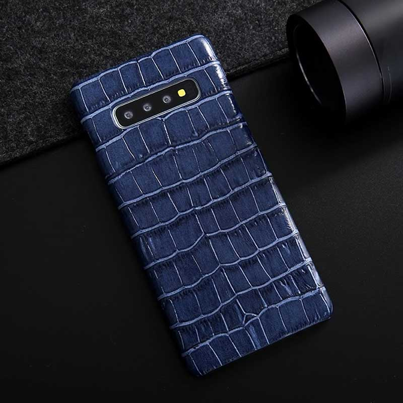 Dark blue crocodile case for Samsung Galaxy S10, S10+ and S10Lite