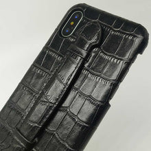 Crocodile Strap-Case for iPhone X - Cowhide Leather