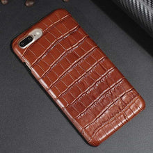 Croco iphone leather case