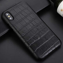 Load image into Gallery viewer, Black Business Crocodile iphone X case