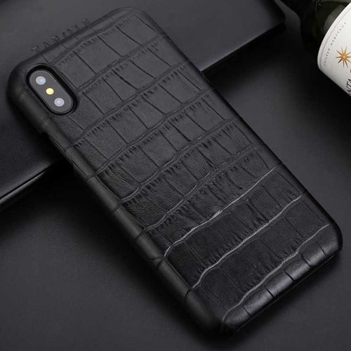 Black Business Crocodile iphone X case