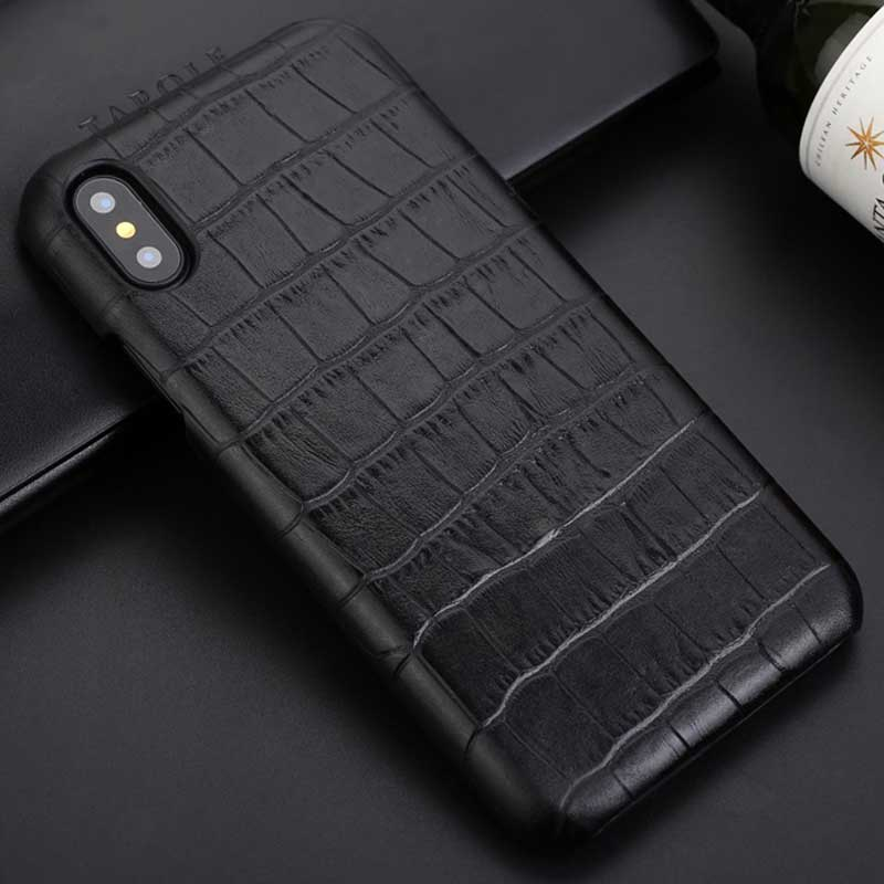 info for 99be0 60a4b Crocodile case for iPhone X - Cowhide Leather
